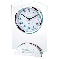 View a larger, more detailed picture of the Arch Glass Clock