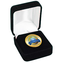 View a larger, more detailed picture of the Circle Lapel Pin with Gift Box