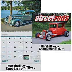 View a larger, more detailed picture of the Street Rods Calendar - Spiral - 24 hr