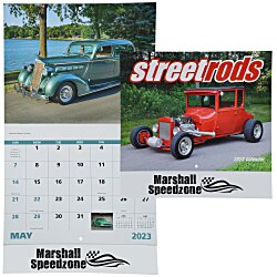 View a larger, more detailed picture of the Street Rods Calendar - Stapled - 24 hr