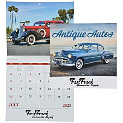 View a larger, more detailed picture of the Antique Autos Calendar - Stapled - 24 hr