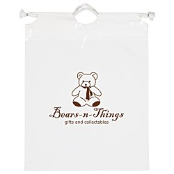 View a larger, more detailed picture of the Poly Bag with Cotton Drawstring - 12 x 9-1 2