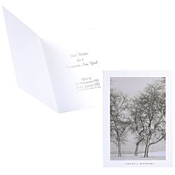 View a larger, more detailed picture of the Snow Blown Trees Greeting Card