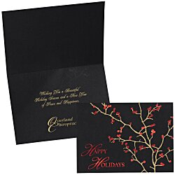 View a larger, more detailed picture of the Red Berries Holiday Greeting Card
