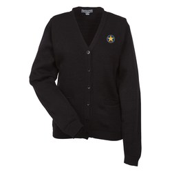 View a larger, more detailed picture of the Acrylic V-Neck Cardigan with Pockets - Ladies