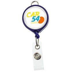 View a larger, more detailed picture of the Retractable Badge Holder w Lanyard Attachment - Round-Opaque