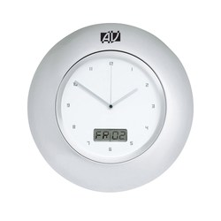 View a larger, more detailed picture of the Horlomur Series Wall Clock and Date - 12-1 2 - Closeout
