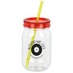 View a larger, more detailed picture of the Color Palette Mason Jar Tumbler - 28 oz