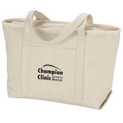 View a larger, more detailed picture of the Solid Cotton Yacht Tote - Natural - 14 x 24 - 24 hr