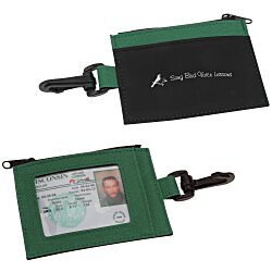View a larger, more detailed picture of the Zip Pouch ID Holder - Colors - 24 hr
