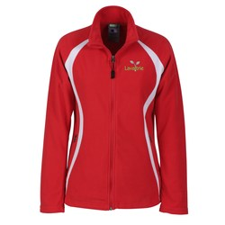 View a larger, more detailed picture of the Ecotech-Fleece100 Recycled Polyester Jacket-Ladies -Closeout