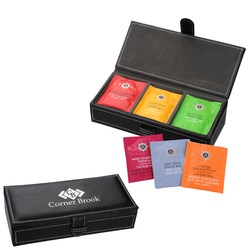 View a larger, more detailed picture of the Leatherette Tea Box Set