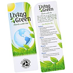 View a larger, more detailed picture of the Just the Facts Bookmark - Living Green