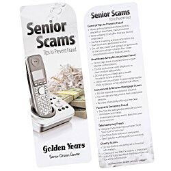View a larger, more detailed picture of the Just the Facts Bookmark - Senior Scams