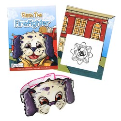 View a larger, more detailed picture of the Coloring Book w Mask - Flash the Firefighter