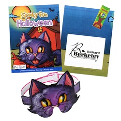 View a larger, more detailed picture of the Coloring Book w Mask & Crayons - Spooky Fun Halloween