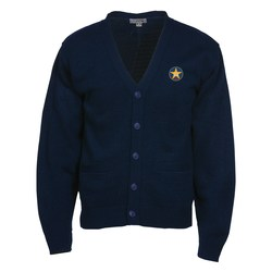 View a larger, more detailed picture of the Acrylic V-Neck Cardigan with Pockets - Men s - 24 hr