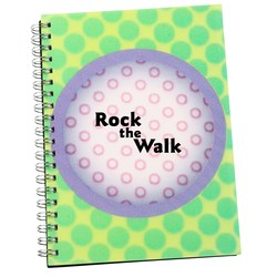 View a larger, more detailed picture of the 3D Spiral Notebook - Circle - Closeout