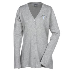 View a larger, more detailed picture of the Featherweight V-Neck Long Cardigan