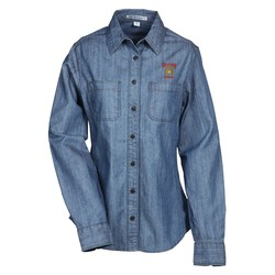 View a larger, more detailed picture of the Patch Pocket Denim Shirt - Ladies