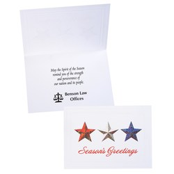 View a larger, more detailed picture of the Red White & Blue Stars Greeting Card