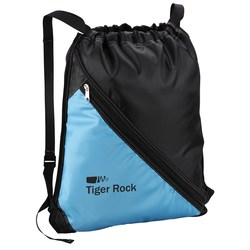 View a larger, more detailed picture of the Bold Divider Drawstring Backpack - Closeout