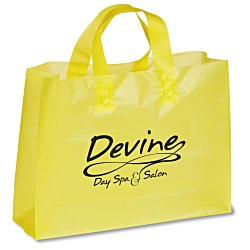 View a larger, more detailed picture of the Colored Frosted Soft-Loop Shopping Bag