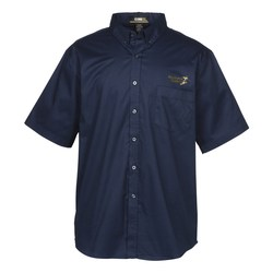 View a larger, more detailed picture of the Operate Short Sleeve Twill Shirt - Men s