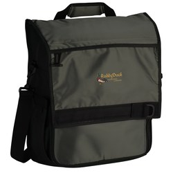View a larger, more detailed picture of the Onyx Convertible Computer Messenger Bag - Embroidered