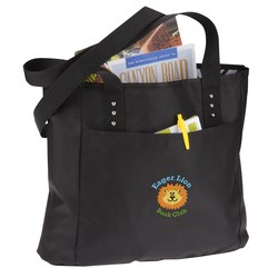 View a larger, more detailed picture of the Meribel Reversible Tote - Embroidered