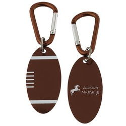 View a larger, more detailed picture of the Aluminum Dog Tag Key Chain - Football - Closeout