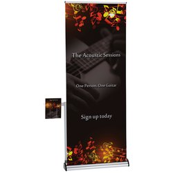 View a larger, more detailed picture of the Barracuda Retractable Banner with Literature Pocket