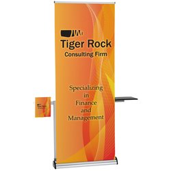 View a larger, more detailed picture of the Barracuda Retractable Banner with Table & Literature Pocket