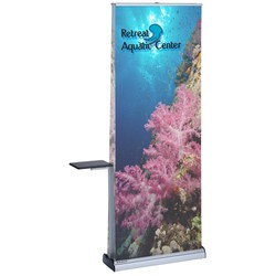 View a larger, more detailed picture of the Advance Quick Change Double Sided Retractable Banner w Table