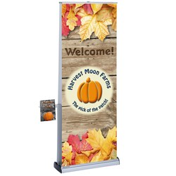 View a larger, more detailed picture of the Advance Quick Change Double Sided Ret Banner w Lit Pocket