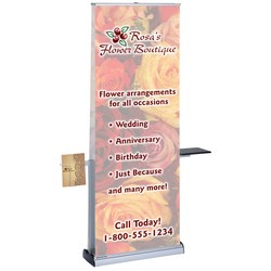 View a larger, more detailed picture of the Adv Quick Change Dble Sided Ret Banner w Table & Lit Pocket