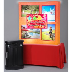 View a larger, more detailed picture of the Backlit HopUp Curved Tabletop Display - 5