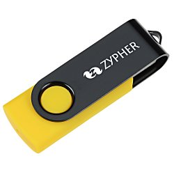 View a larger, more detailed picture of the Swing USB Drive - Black - 4GB - 3 Day