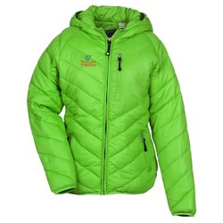 View a larger, more detailed picture of the Crystal Mountain Hooded Jacket - Ladies