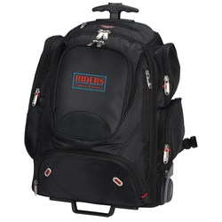 View a larger, more detailed picture of the elleven Wheeled Security-Friendly Laptop Backpack - Emb