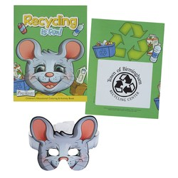 View a larger, more detailed picture of the Coloring Book w Mask - Recycling is Fun