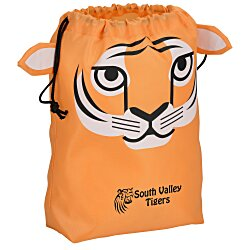 View a larger, more detailed picture of the Paws and Claws Drawstring Gift Bag - Tiger