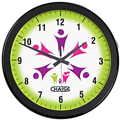 View a larger, more detailed picture of the Full Color Wall Clock - 14 - Numbers