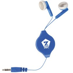 View a larger, more detailed picture of the Retractable Colored Ear Buds - 24 hr