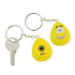 View a larger, more detailed picture of the Happy Mood Maniac Stress Key Tag