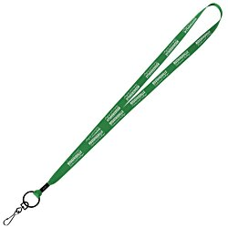 View a larger, more detailed picture of the Economy Lanyard - 1 2 - Metal Swivel Snap Hook