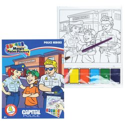 View a larger, more detailed picture of the Paint Poster Book - Police Heroes