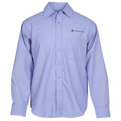 View a larger, more detailed picture of the Stain Release Cross Weave Shirt - Men s