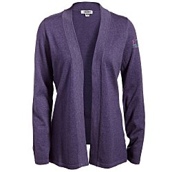 View a larger, more detailed picture of the Tri-Blend Open Cardigan Sweater