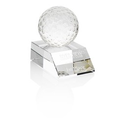 View a larger, more detailed picture of the Crystal Golf Ball Award - 3